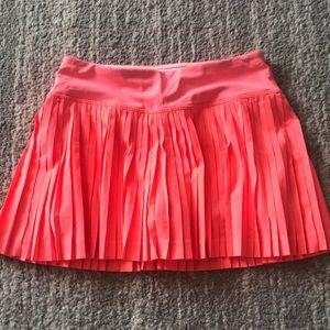 Pink Lululemon tennis skirt